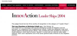 innovAction award 2004